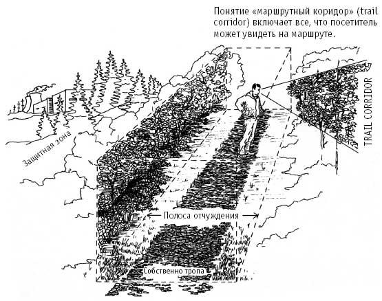 Схема строения экологической тропы