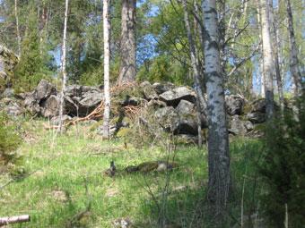 Каменные валы на городище Яамяки