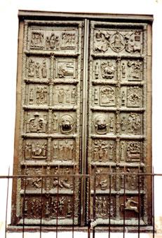 Ворота захваченные карелами в Сигтуне в 1187 г.