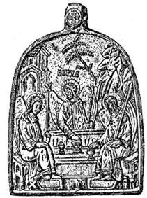Икона Святой Троицы. Найдена на о. Кильпола.