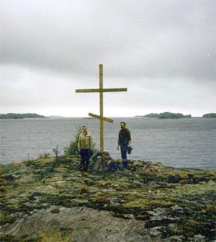Поклонный крест на месте церкви Успения Богородицы. Лапинлахти