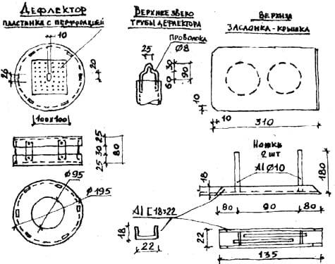 Печка для обогрева и варки на группу 6-10 человек: в) деталировка
