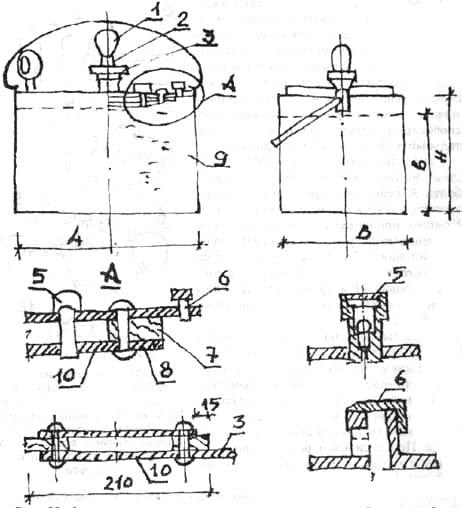 Автоклав со сварным корпусом и внутренней крышкой
