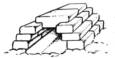 Снежный домик, построенный «арочным» способом